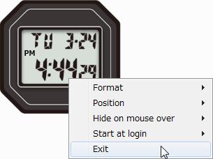Gショック5600風フリーデスクトップ時計