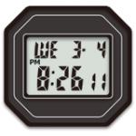 無料ブログパーツ・Gショック5600風デジタル時計公開!