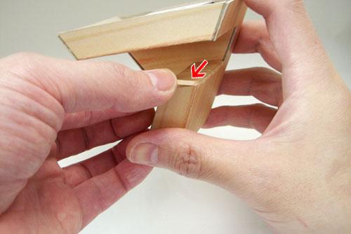 腕時計スタンド(ペーパークラフト)の作り方