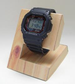 腕時計スタンド(ペーパークラフト)ナチュラルウッド