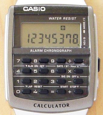 カシオ腕時計 データバンク・カリキュレーター CA-506-1