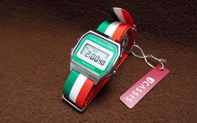 カスタム・チープカシオ イタリア国旗モデル