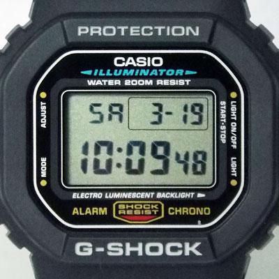 カシオ腕時計DW-5600E-1文字盤のデザイン