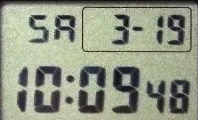 カシオ腕時計DW-5600E-1フォント