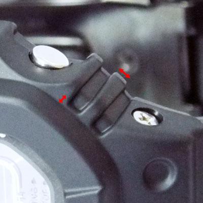 カシオ腕時計GW-M5610BC-1ボタン付近の凹凸