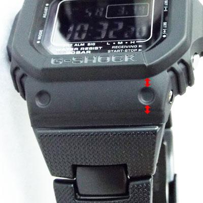 カシオ腕時計GW-M5610BC-1ラグ(時計とベルトの接合箇所)