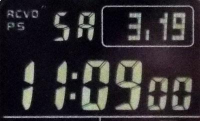 カシオ腕時計GW-M5610BC-1フォント