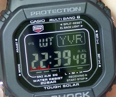 カシオ腕時計GW-M5610BC-1ディスプレイの詳細