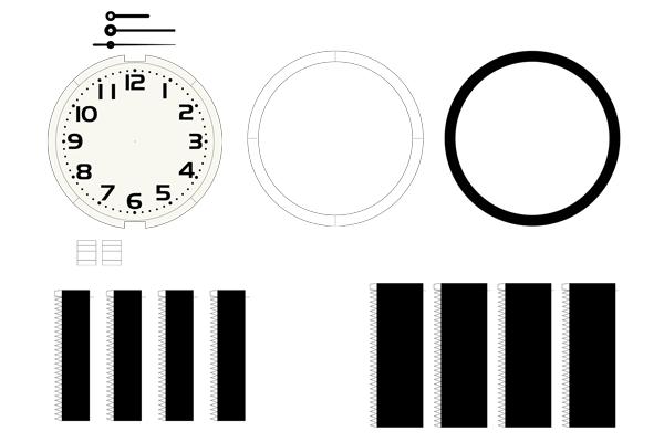 チープカシオ風壁掛け時計