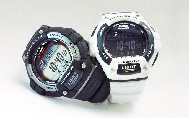 カシオ腕時計W-S220-1AとW-S220C-7B