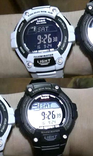 カシオ腕時計W-S220-1A と W-S220C-7B