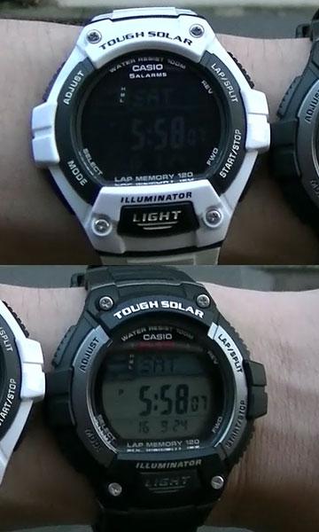 カシオ腕 時計W-S220-1A と W-S220C-7B