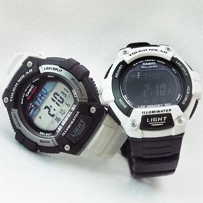カシオ腕時計W-S220-1A と W-S220C-7B のベルトを入れ替え