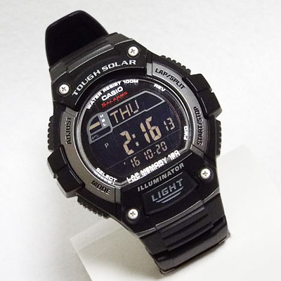 W-S220C-7Bと中身を入れ替えたカシオ腕時計W-S220-1A