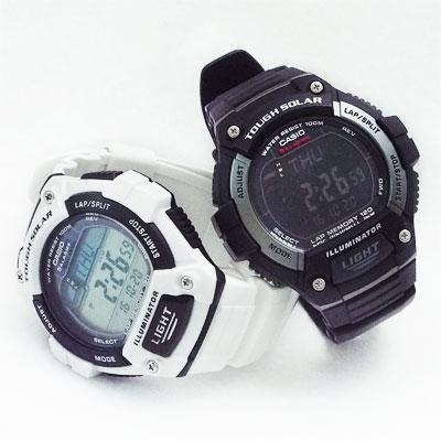 相互に中身を入れ替えたカシオ腕時計W-S220-1AとW-S220C-7B
