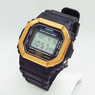 カスタムG-SHOCK DW-5600E-1V カッパーミラー(鏡面銅色)ベゼル仕様