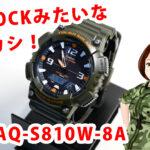 G-SHOCKみたいなチープカシオAQ-S810W-8Aレビュー!